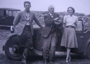 Hywel Murrell, Secretary, 1934-1940, (left) with Herbert Balch, the first Wessex President and Ruth Murrell